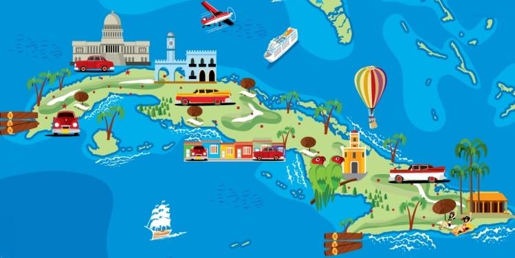 Carte et Temps de route à Cuba